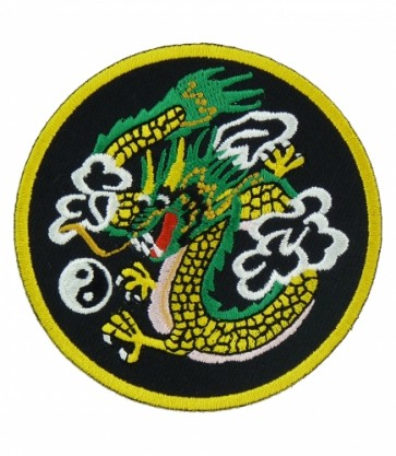 Dragon & Yin Yang Patch, Chinese Dragon Patches