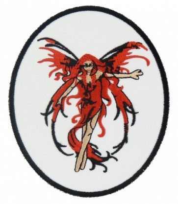 Dancing Fairy Red Oval Patch, Ladies Fairy Patches