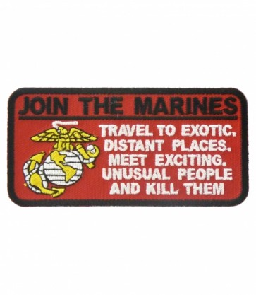 Join The Marines EGA Patch, Military Sayings Patches