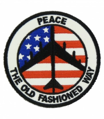 Peace B-52 U.S. Flag Patch, Patriotic Military Patches