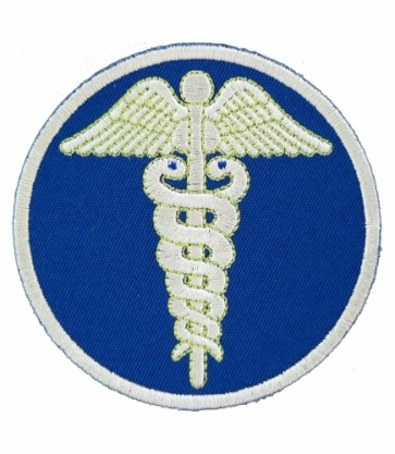 Blue Caduceus Symbol of Medicine Patch, Medical Patches