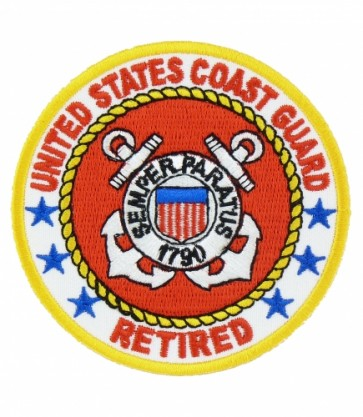 U.S. Coast Guard Retired Patch, Retired Military Patches