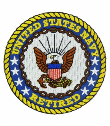 United States Navy Retired Patch, Military Patches