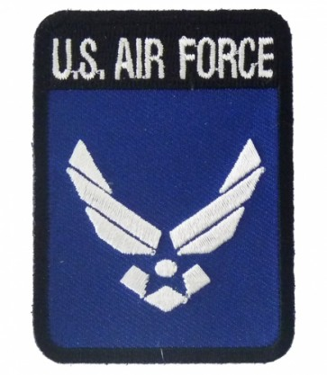 U.S. Air Force Rectangle Logo Patch, Air Force Patches