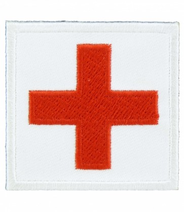 Red Cross White Square Patch, Medical Patches