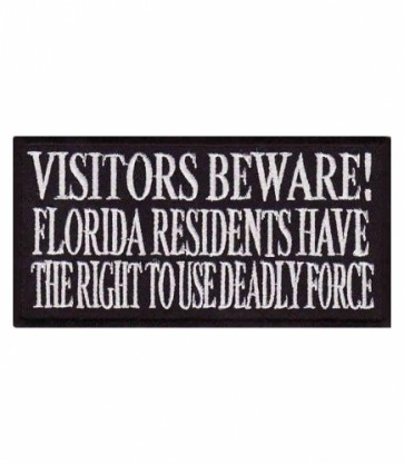 Visitors Beware Florida Residents Patch, Funny Patches