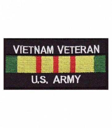 Vietnam US Army Vet Service Ribbon Patch, Military Patches