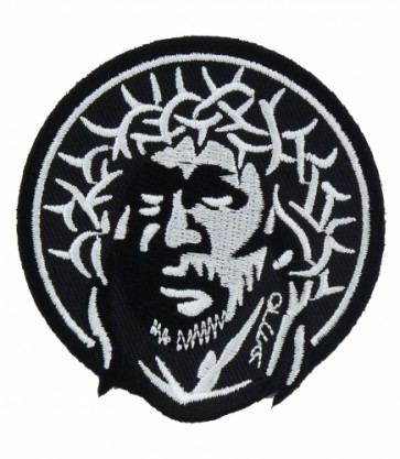 Jesus With Crown of Thorns Patch, Christian Patches