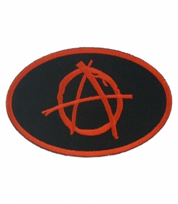 Oval Anarchy Symbol Patch, Anarchy Patches