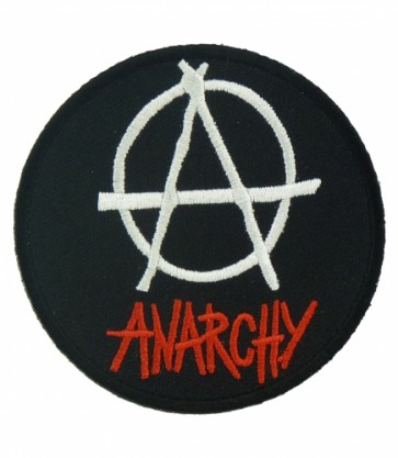 Anarchy Symbol Round Patch, Anarchy Symbol Patches