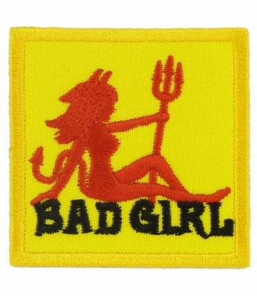 Bad Girl Red & Yellow Devil Patch, Ladies Patches
