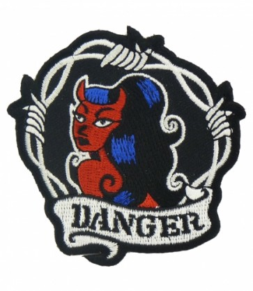 Danger Sexy Devil Girl Patch, Ladies Patches