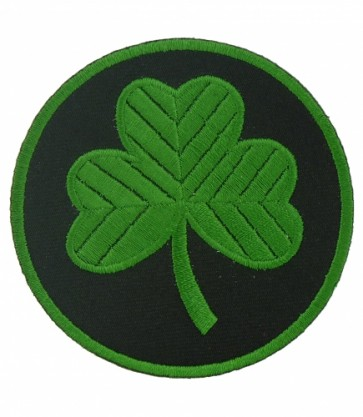 Green & Black Shamrock Patch, Irish Shamrock Patches