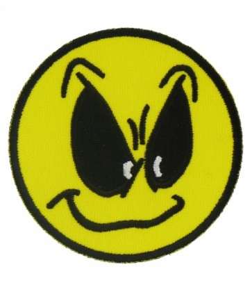 Angry Smiley Face Patch, Smiley Face Patches