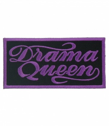 Drama Queen Purple & Black Patch, Ladies Patches