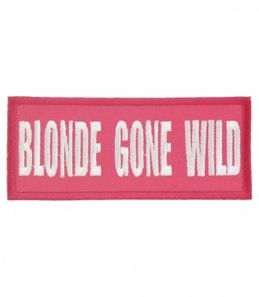 Blonde Gone Wild Pink & White Patch, Ladies Patches
