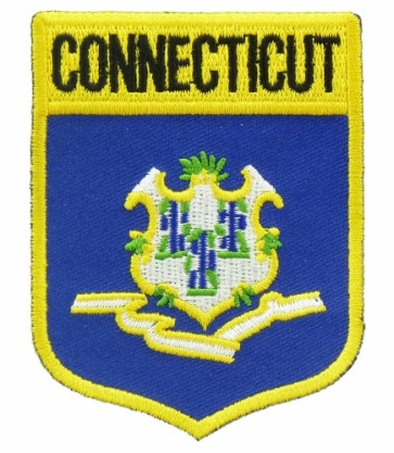Connecticut State Flag Shield Patch, 50 State Flag Patches