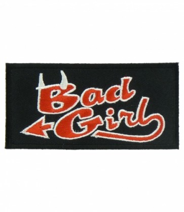 Bad Girl Red Devil Horns Patch, Ladies Devil Patches