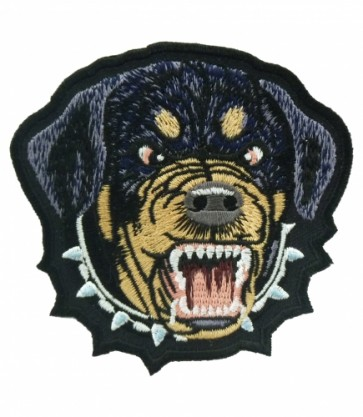 Mean Rottweiler Spiked Collar Patch, Dog Patches