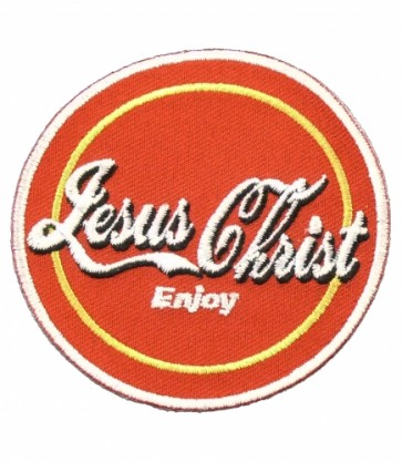 Jesus Christ Enjoy Red Patch, Christian Patches