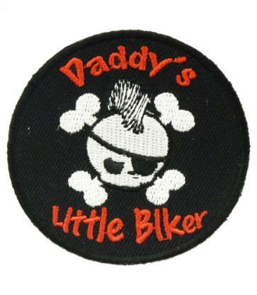 Daddy's Little Biker Skull Patch, Kid's Biker Patches