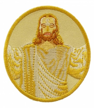 Golden Jesus Portrait Patch, Christian Patches
