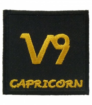 Zodiac Sign Capricorn Black & Gold Patch, Zodiac Patches