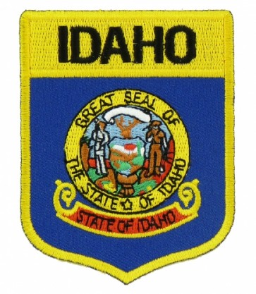 Idaho State Flag Shield Patch, 50 State Flag Patches