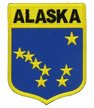 Alaska State Flag Shield Patch, 50 State Flag Patches