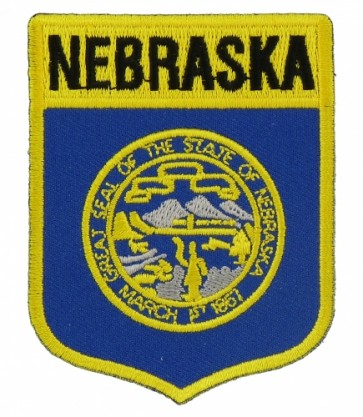 Nebraska State Flag Shield Patch, 50 State Flag Patches