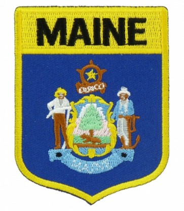 Maine State Flag Shield Patch, 50 State Flag Patches