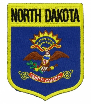 North Dakota State Flag Shield Patch, 50 State Flag Patches