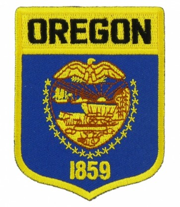 Oregon State Flag Shield Patch, 50 State Flag Patches