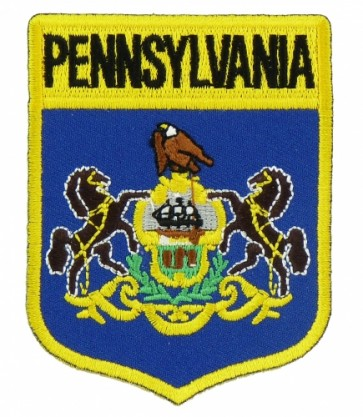 Pennsylvania State Flag Shield Patch, 50 State Flag Patches