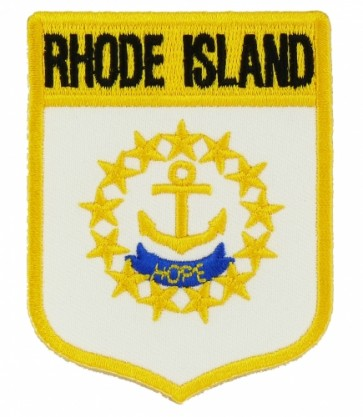 Rhode Island State Flag Shield Patch, 50 State Flag Patches