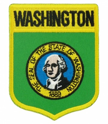 Washington State Flag Shield Patch, 50 State Flag Patches