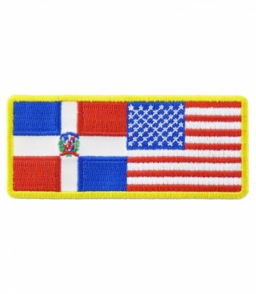 American & Dominican Republic Flag Patch, U.S. Flag Patches