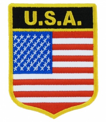 U.S.A. Flag Shield Patch, American Flag Patches
