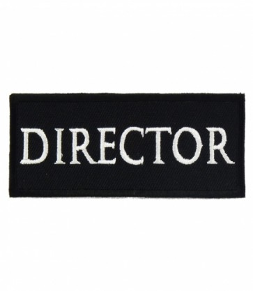 Director Black & White Patch, Biker Club Patches