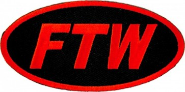 FTW Red & Black Oval Patch, Vulgar Patches