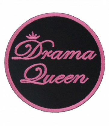 Drama Queen Pink & Black Patch, Ladies Patches