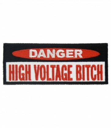 Danger High Voltage Bitch Patch, Women's Patches