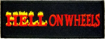 Hell On Wheels Flames Patch, Biker Patches