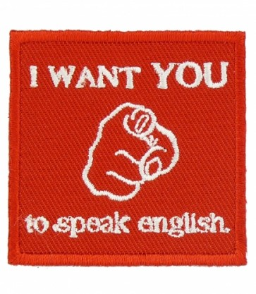 I Want You To Speak English Patch, Patriotic Patches