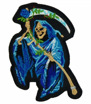 Blue Grim Reaper & Rose Patch, Grim Reaper Patches