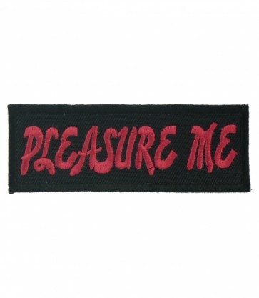Pleasure Me Pink & Black Patch, Ladies Patches
