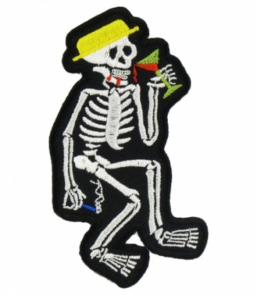 Partying Skeleton & Martini Patch, Skeleton Patches