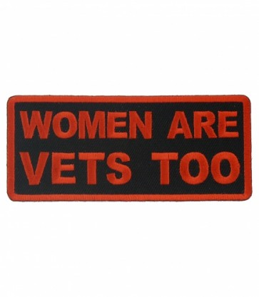 Women Are Vets Too Patch, Women's Military Patches