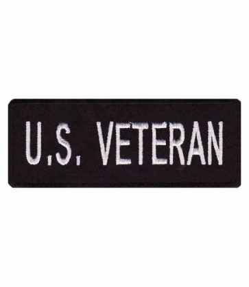 US Veteran Black & White Patch, Military Veteran Patches