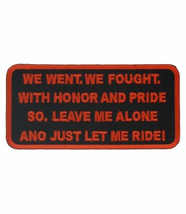 We Went We Fought Patch, Military Biker Patches